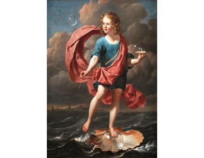 Krásné obrazy II-287 Karel Dujardin - Chlapec a mýdlové bubliny