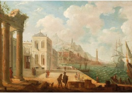 D-5979 Neznámý autor - Středomořská přístavní scéna
