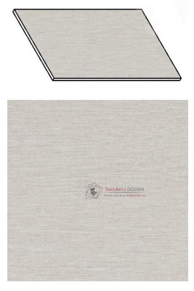 Kuchyňská pracovní deska 20 cm aluminium mat
