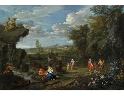 Slavné obrazy VIII-128 Jean Francois Millet - Idylická krajina s postavami