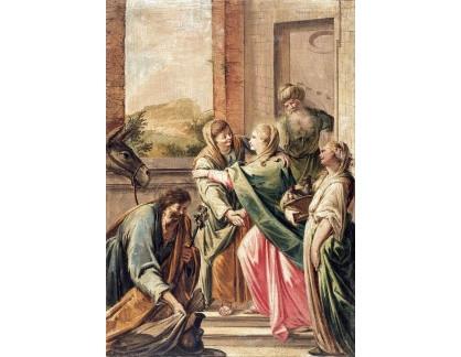 Slavné obrazy XVII-67 Francesco Pla Duran - Navštívení Panny Marie