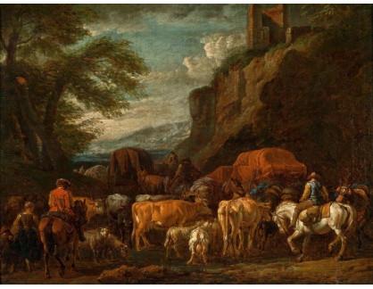 KO III-350 Pieter van Bloemen - Jižní krajina s dobytkem a jezdci