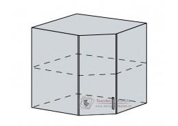 VERONA, 60HR horní skříňka rohová 60HR, bílá / jasan šimo