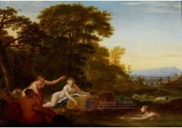Slavné obrazy IX DDSO-629 Friedrich Georg Weitsch - Koupající se pastýřky