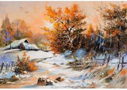 Slavné obrazy IX 132 Neznámý autor - Zimní krajina