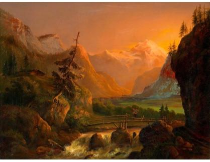 KO III-242 Joseph Altenkopf - Západ slunce nad Dachsteinem