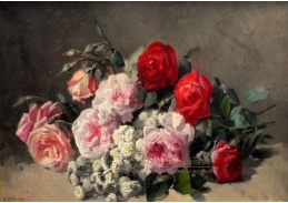 Krásné obrazy VI-103 Neznámý autor - Zátiší s květinami