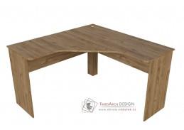 HARVARD, pracovní stůl rohový, dub hickory