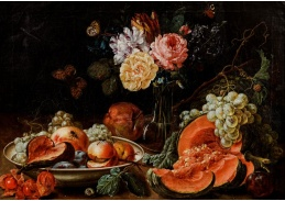 A-1349 Johann Amandus Winck - Ovocné zátiší s květinami a hmyzem