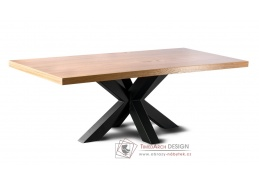 LOFT L11 KAKTUS, konferenční stolek, černá / dub