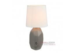 Keramická stolní lampa QENNY typ 3 hnědá / bílá