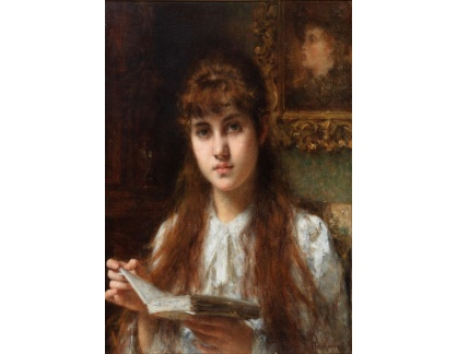 Slavné obrazy I-DDSO-18 Alexej Harlamoff - Dívka při čtení