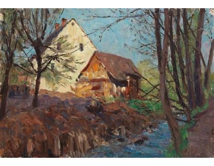 Slavné obrazy II-DDSO-442 Alfred Zoff - Štýrská farma