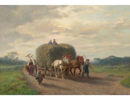Slavné obrazy XVI-468 Desire Thomassin - Na cestě domů ze sklizně sena