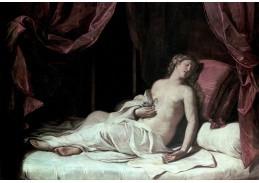 Slavné obrazy X-503  Giovani Francesco Barbieri - Smrt Kleopatry