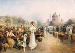 D-5846 Emil Barbarini - Květinový trh před Karlskirche