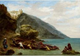 D-7166 Eugene Delacroix - Pohled na Tanger z moře