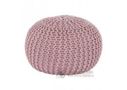 GOBI 2, pletený taburet, růžová bavlna
