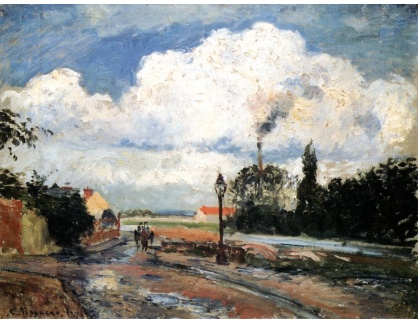 VCP-367 Camille Pissarro - Po dešti v doku Pontoise