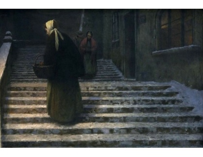 Jakub Schikaneder - Na zámeckých schodech