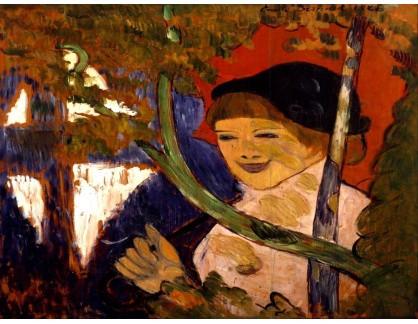 KO III-93 Emile Bernard - Bretaňská dívka s červeným deštníkem