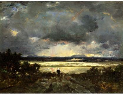 KO III-385 Théodore Rousseau - Západ slunce v Auvergne