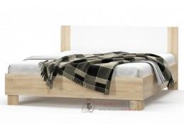 MARKOS, postel 160x200cm, dub sonoma / bílá