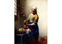 Johannes Vermeer - Dojička, 60x40cm