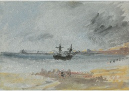 D-6246 Joseph Mallord William Turner - Loď na mělčině u Brightonu