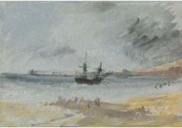 D-6246 Joseph Mallord William Turner - Loď na mělčině u Brightonu