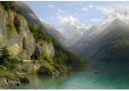 Slavné obrazy XIII 313 Johann Joseph Jansen - Jezero Lucerne