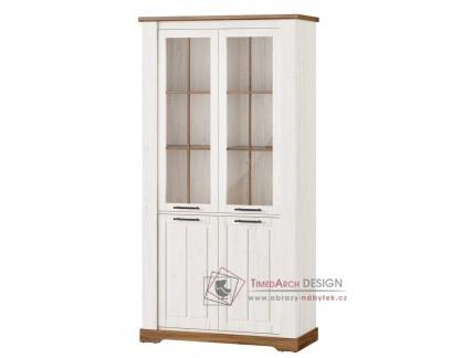 COUNTRY, 12 vitrína 4-dveřová, borovice andersen / dub stirling