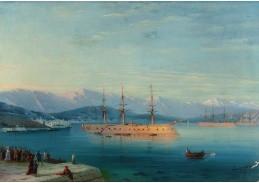 DDSO-3624 Ivan Aivazovskij - Francouzské lodě odjíždějící od Černého moře