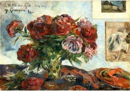 D-7547 Paul Gauguin - Zátiší s pivoňkami