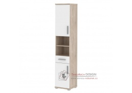 LESSY LI 05, koupelnová skříňka, dub sonoma / bílý lesk