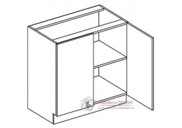 DARK BIS, dolní skříňka 2-dvéřová D80, bílá / wenge