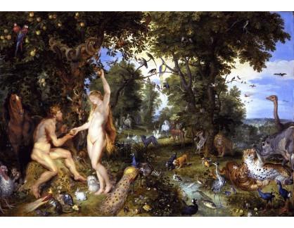 VRU135 Peter Paul Rubens - Adam a Eva v rajské zahradě