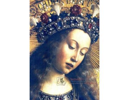VH657 Jan van Eyck - Marie, detail oltářní malby Ghent