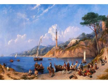 Slavné obrazy III-DDSO-493 C. H. Seaforth - Scéna jihoitalského pobřeží
