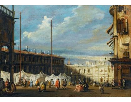 Slavné obrazy III-DDSO-584 Francesco Guardi - Piazza San Marco v Benátkách
