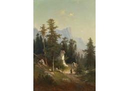 Slavné obrazy X 174 Theodor Freiherr von Ehrmanns - Lesní kaplička