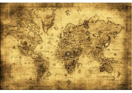 Obraz mapa 1285
