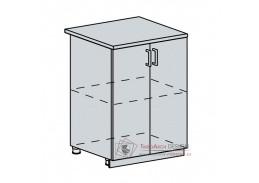 VERONA, dolní skříňka 2-dveřová 60D, bílá / jasan šimo
