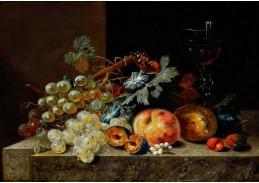 A-1352 Johann Amandus Winck - Ovocné zátiší se sklenkou na víno a motýlem
