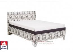 ANDREA, čalouněná postel 100x200cm, výběr provedení