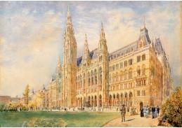 D-9693 Rudolf von Alt - Vídeňská radnice a Radniční náměstí