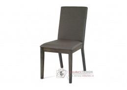 ARC-7137 GREY, jídelní židle, hnědá / látka šedá