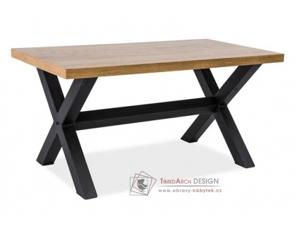 XAVIERO B, konferenční stolek, černá / MDF dub