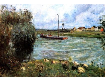 VCP-426 Camille Pissarro - Břehy Oise v Pontoise