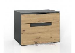 KOLOMAN 649, noční stolek, grafit / dub artisan
